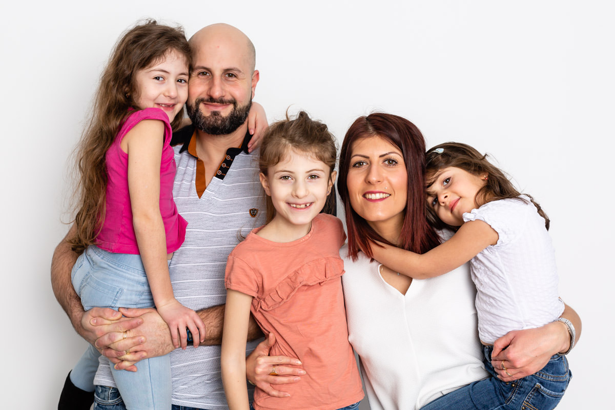 prendre une belle photo de famille : exemple de pose
