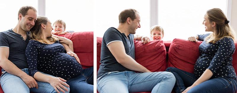 séance photo grossesse à la maison
