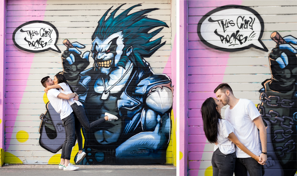 seance photo engagement street art