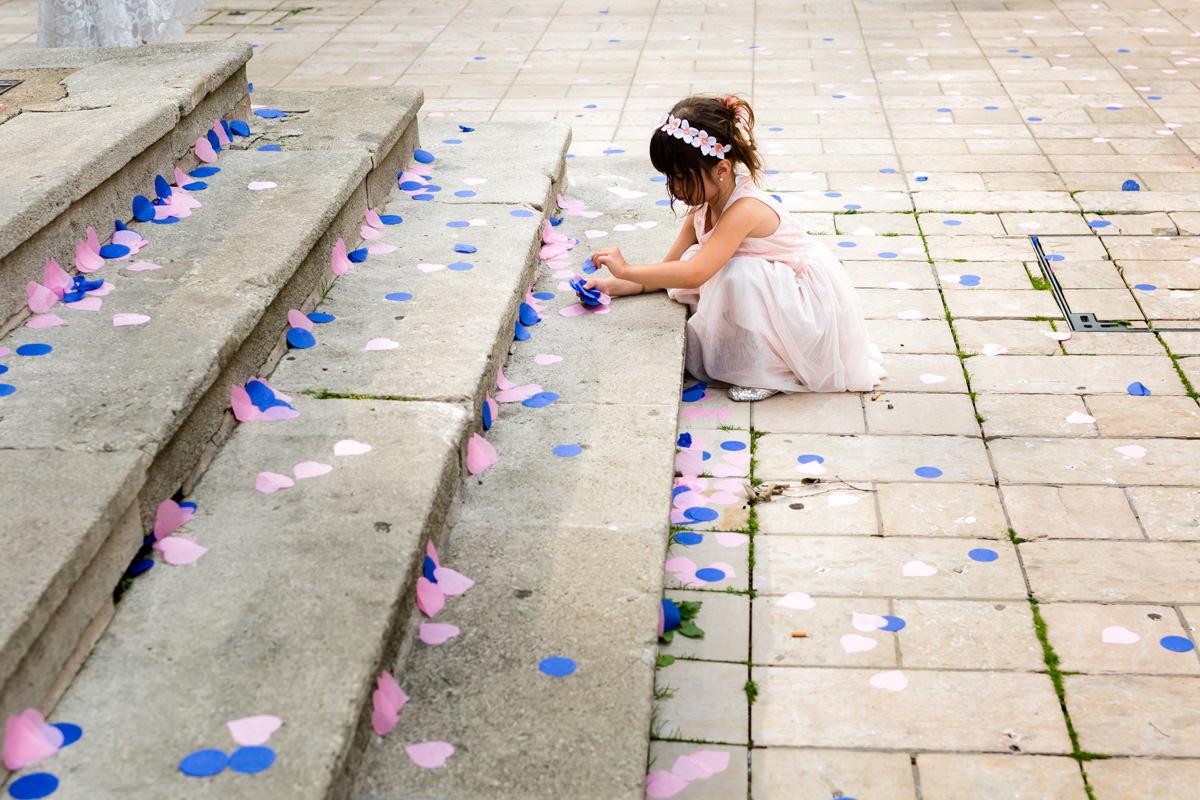 photo d'enfant à un mariage