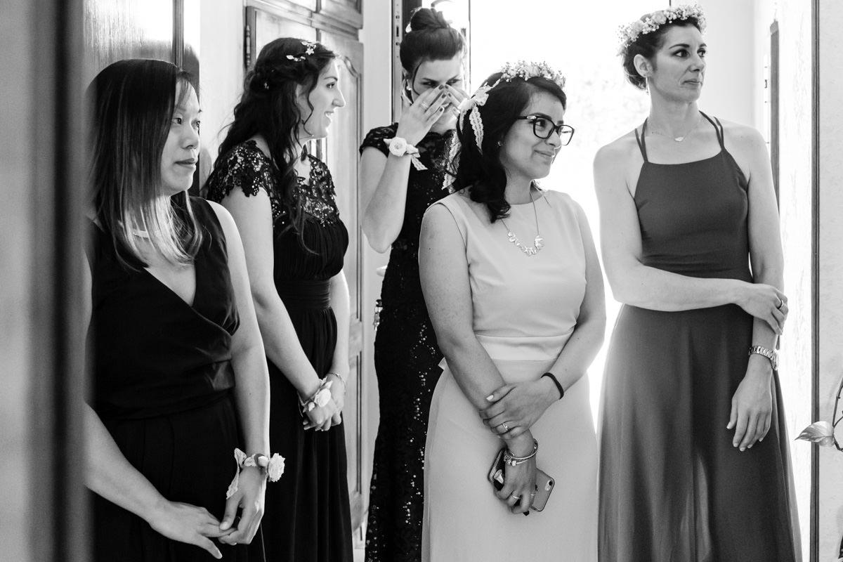 émotions suite à la découverte de la mariée