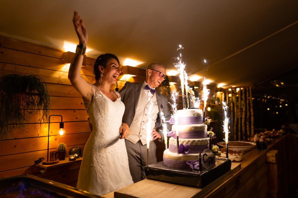 pièce montée lors d'un mariage au Val du Scherbach