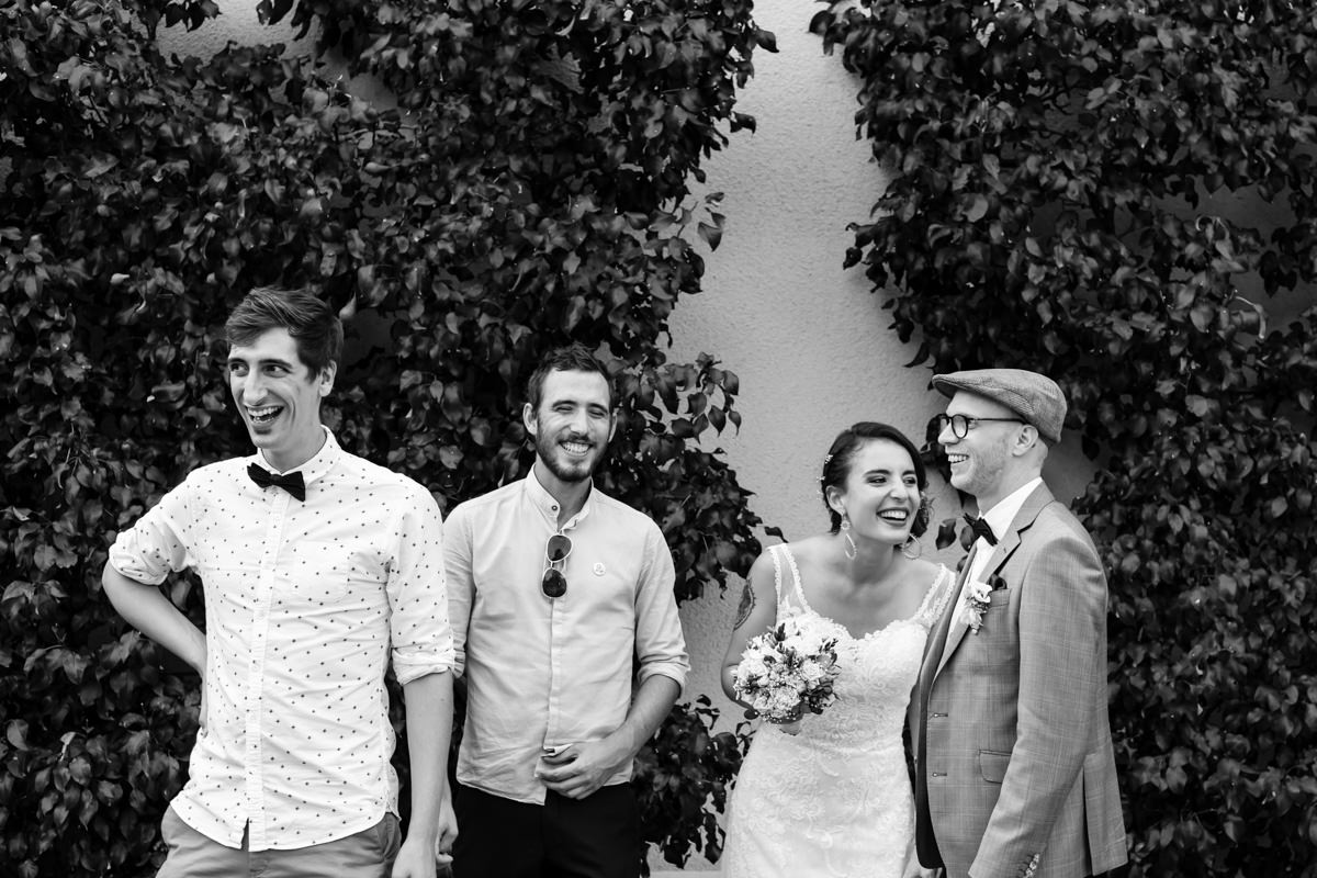 photo de groupe mariage val du Scherbach