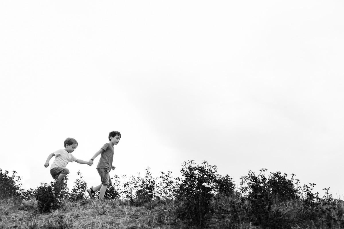 portraits d'enfants dans la nature