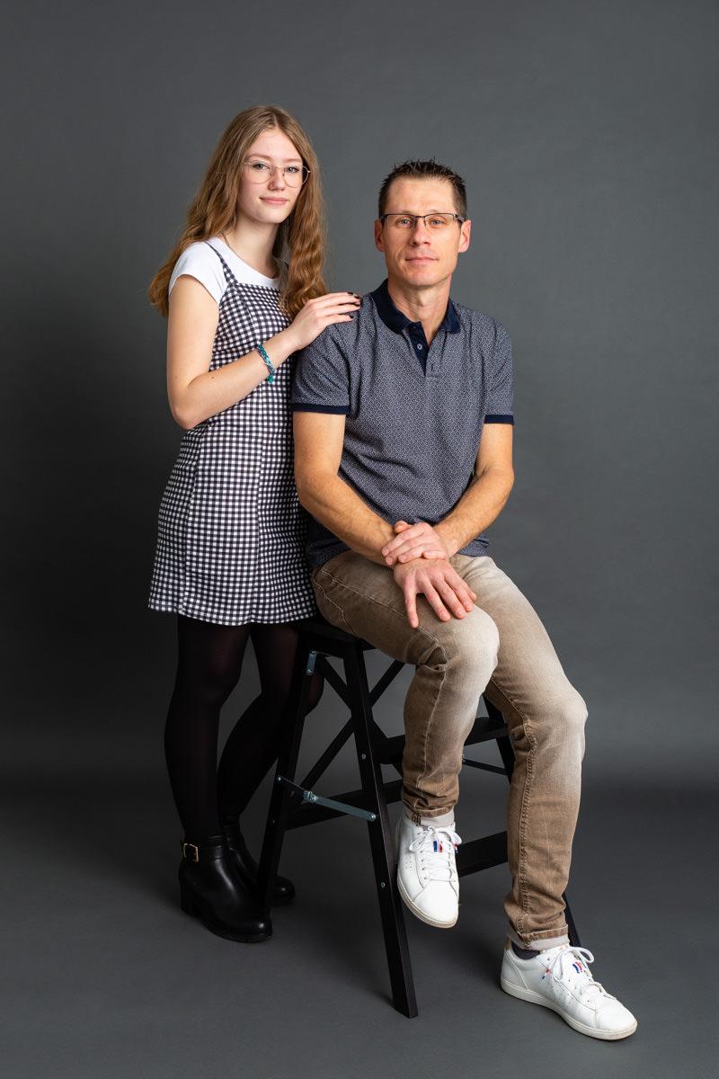 portrait traditionnel père et fille